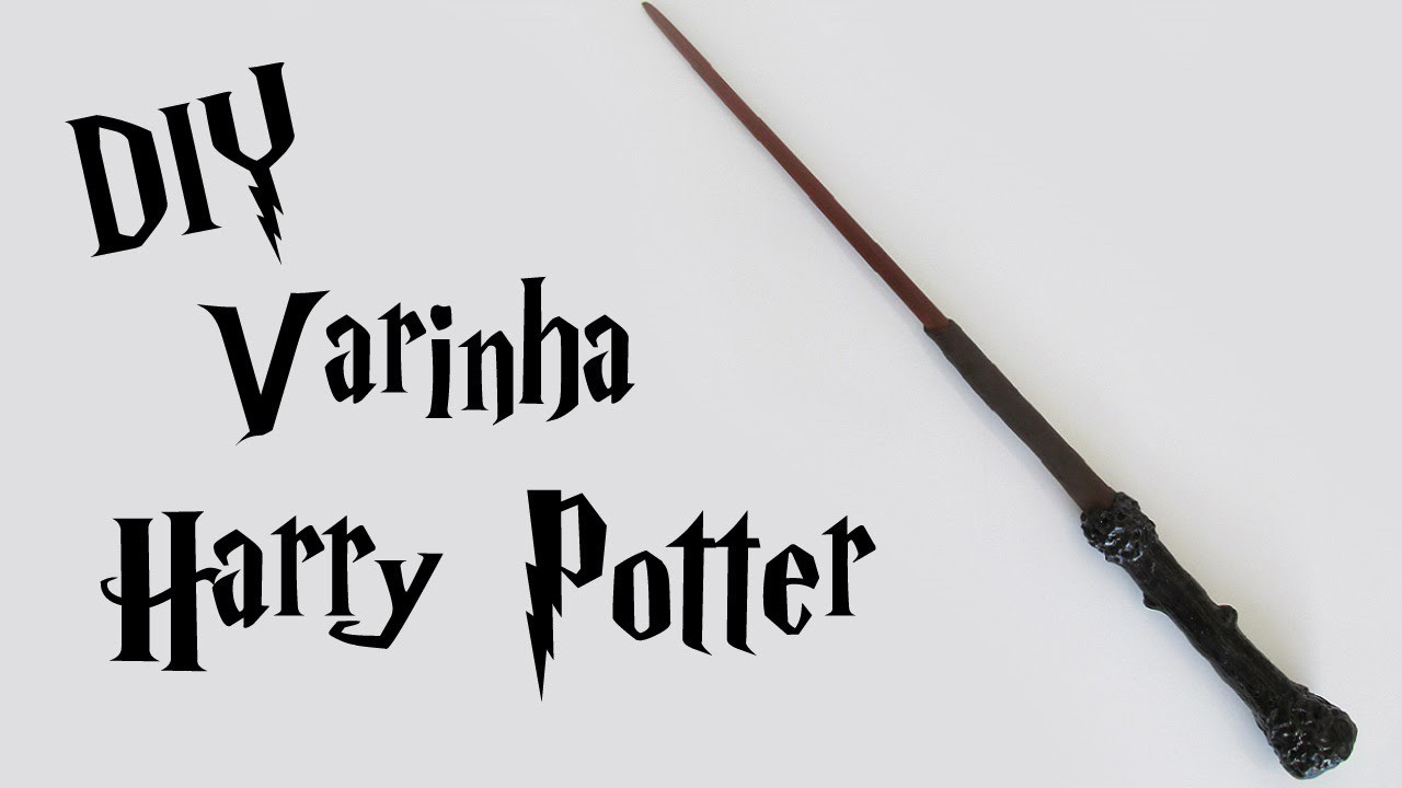 DIY: Como Fazer a Varinha do Harry Potter (Harry Potter Wands)