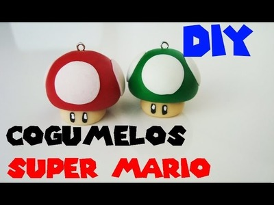 ★ DIY: Pingente Cogumelos do SUPER MARIO ★ ( 1 up and Super Mushroom Pendant)