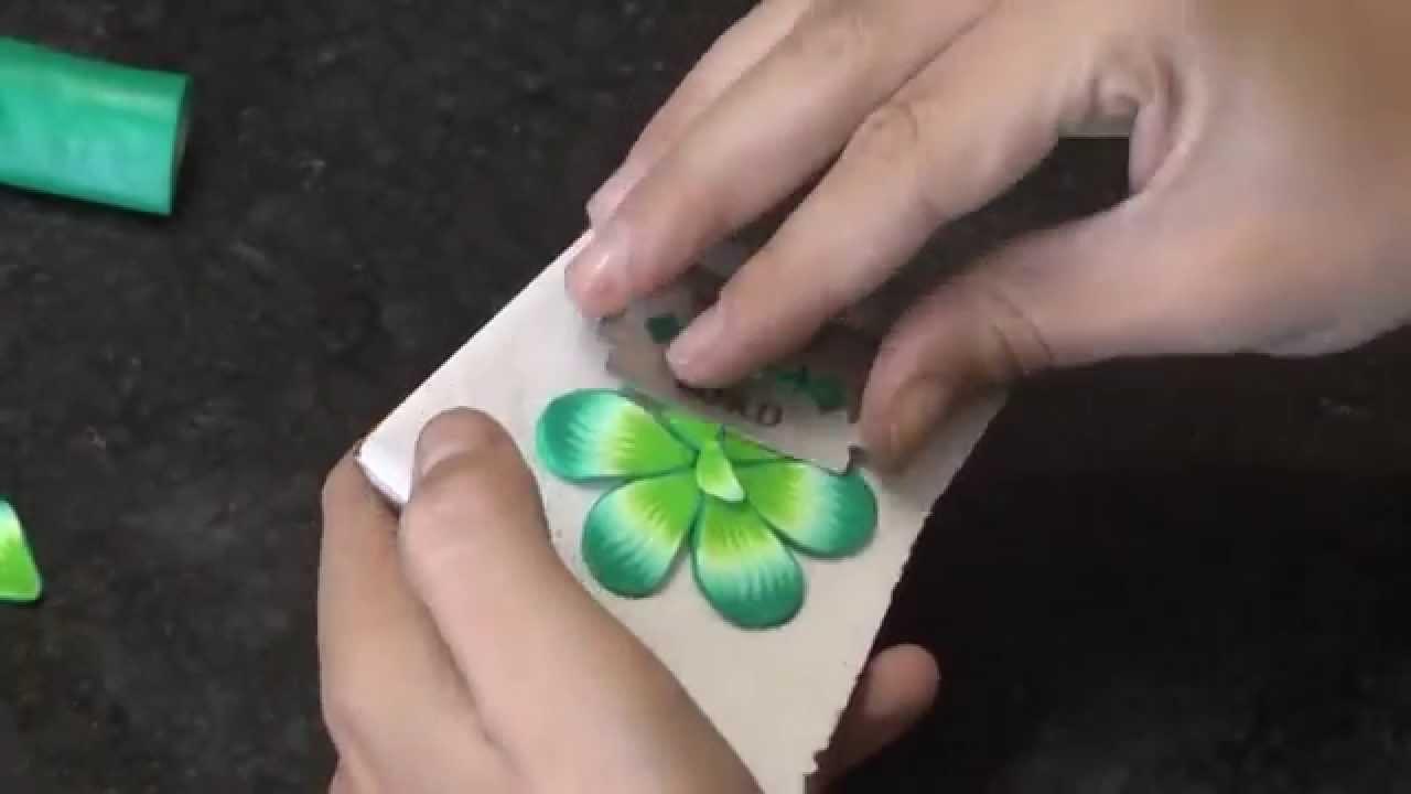 Estampa millefiori em cerâmica plástica (polymer clay) + brinco falso alargador