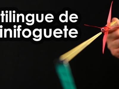 Estilingue de minifoguete (como fazer um foguete de caneta e elástico)