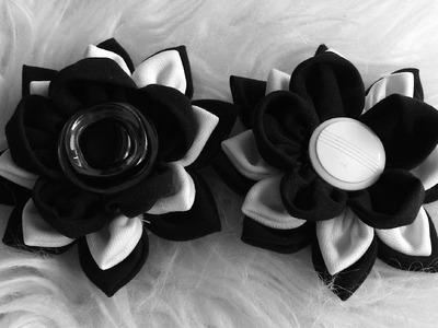 FLOR  de  TESIDO l - Passo a Passo -fabric flowers