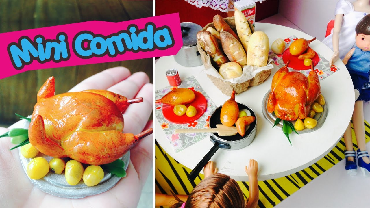 Frango Assado para Bonecas Barbie & Monster High (mini comida)
