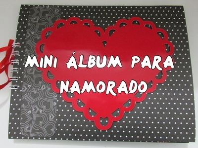 Mini Álbum para Namorado - Scrapbook Romântico