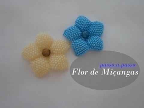 NM Bijoux - Flor de Miçanga - passo a passo
