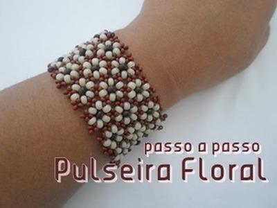 NM Bijoux - Pulseira Floral - passo a passo