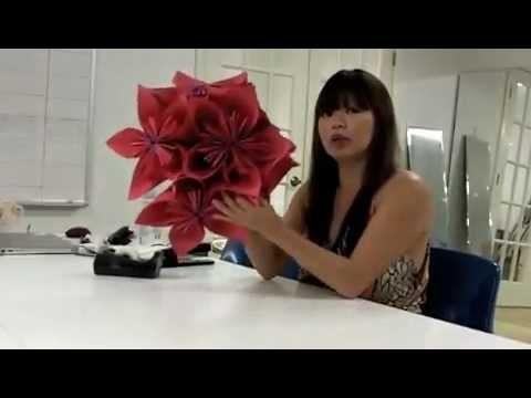 Origami flor com efeito 3D
