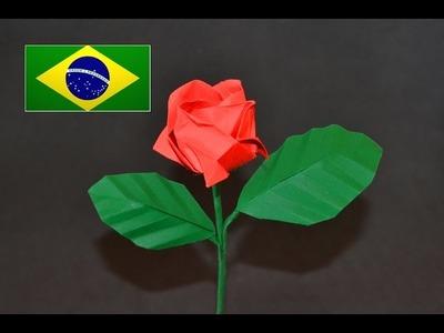Origami: Rosa Kawasaki - Tutorial com voz PT BR