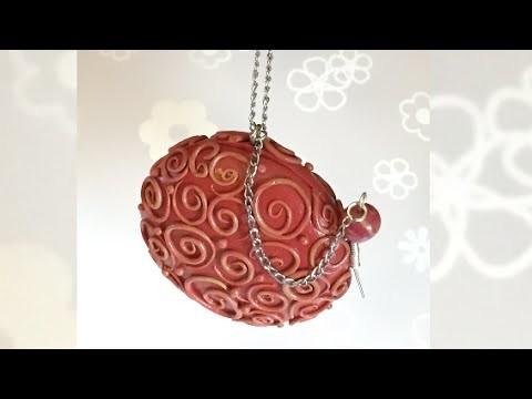 Polymer clay Box pendant. Caixa pendente (Fimo) Tutorial