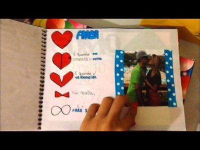 Presente para namorado (scrapbook e kit cinema)