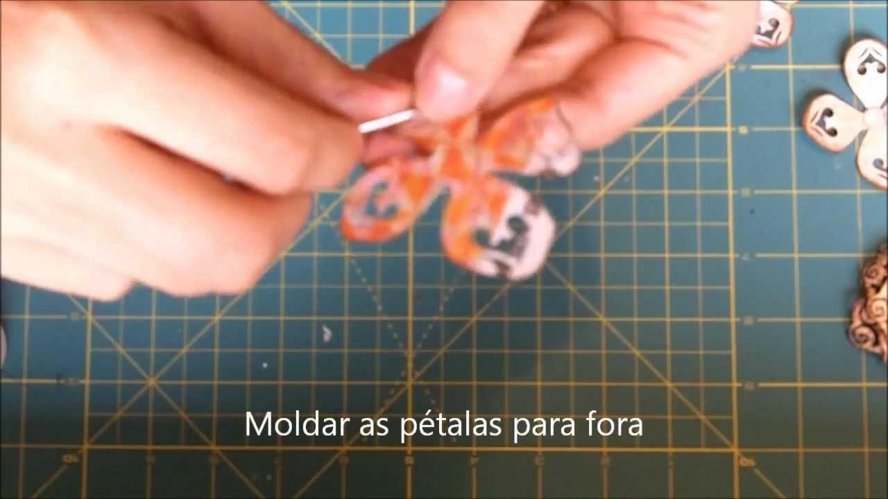 Rosa de papel - Punch corner Rose - Scrapbook how to