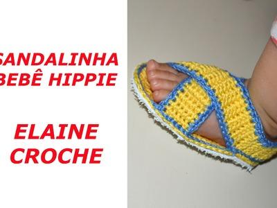 SANDALINHA BEBÊ HIPPIE CROCHE