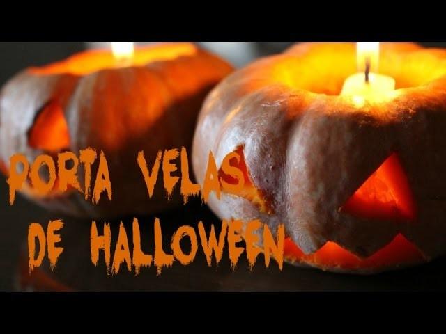 DIY: Porta Velas Mini Abóbora de Halloween | Amélia Moderna