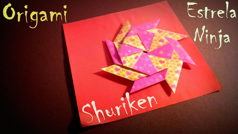 Como fazer ORIGAMI Estrela NINJA Star DIY Shuriken 8 points