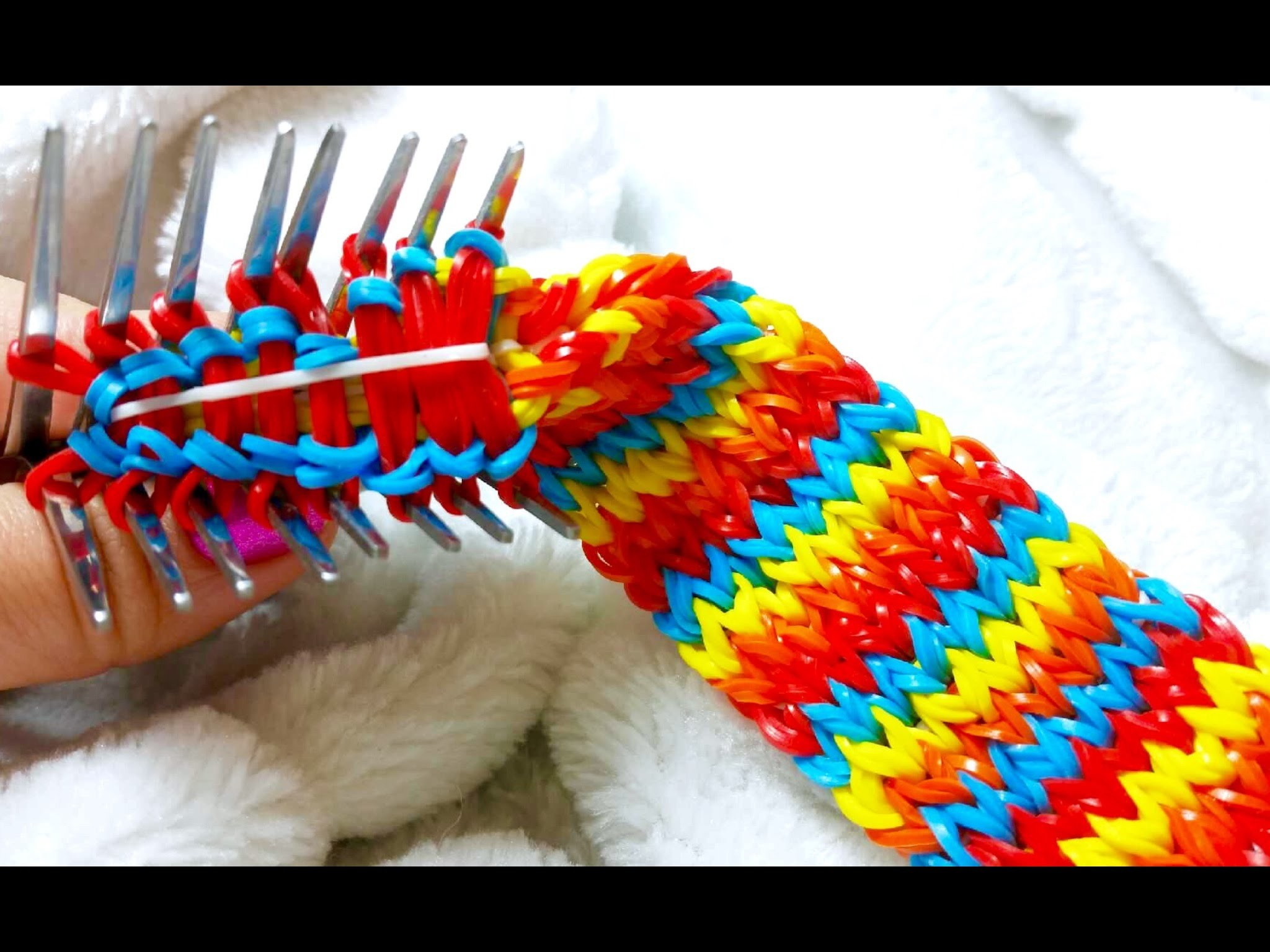 Rainbow Loom-Pulseira de Elásticos ESCAMA DE DRAGÃO ESTILOSA-Gomitas-Loom Bands BRACELET