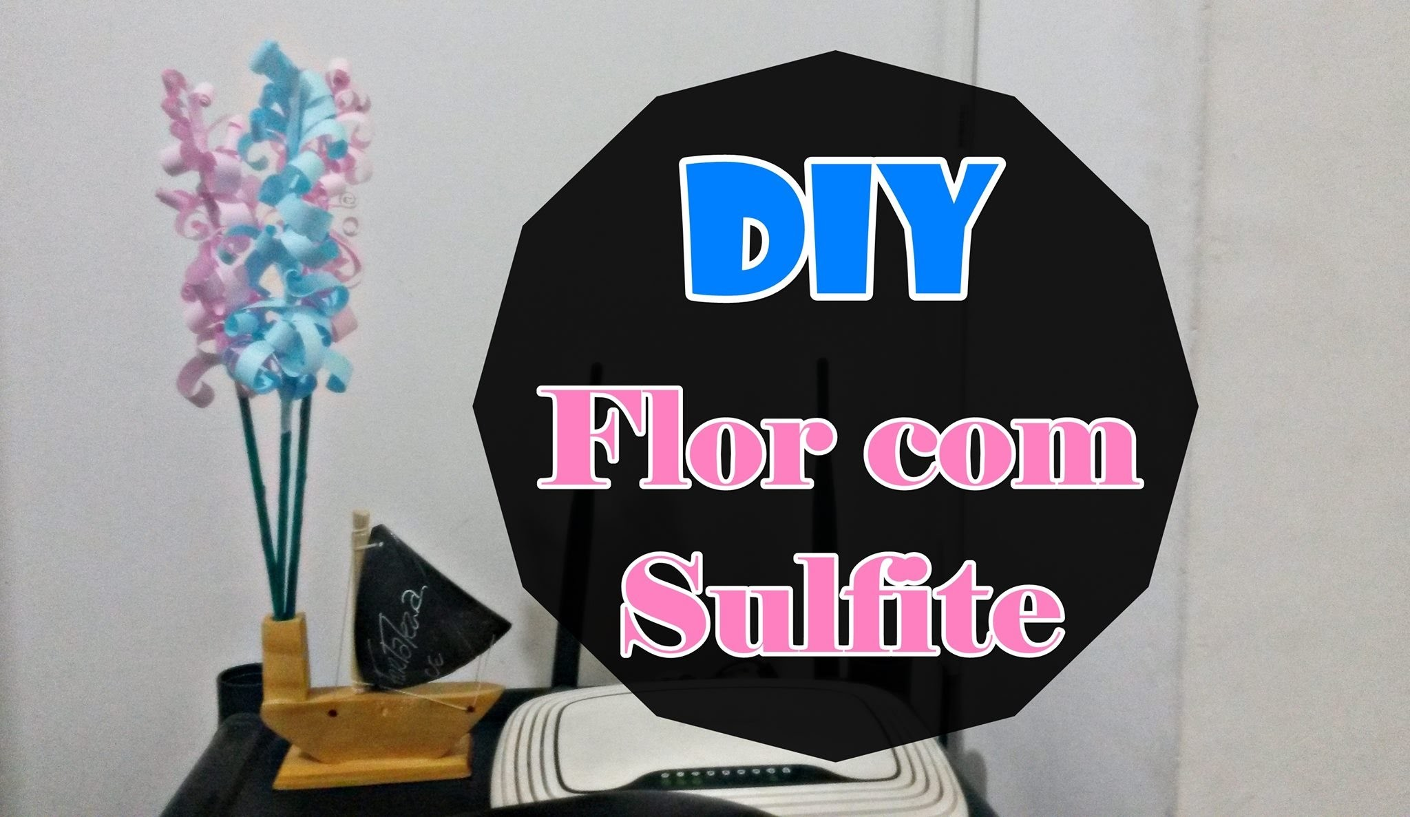 DIY - Flor com Sulfite | #8DiasComAJuu08