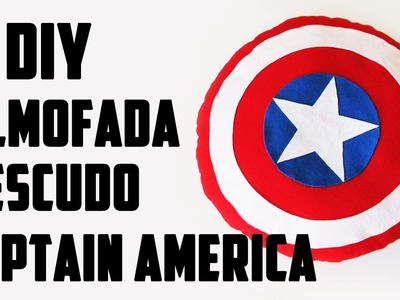 DIY: Almofada Escudo do Capitão América - Vingadores (Pillow Shield Captain America Tutorial)