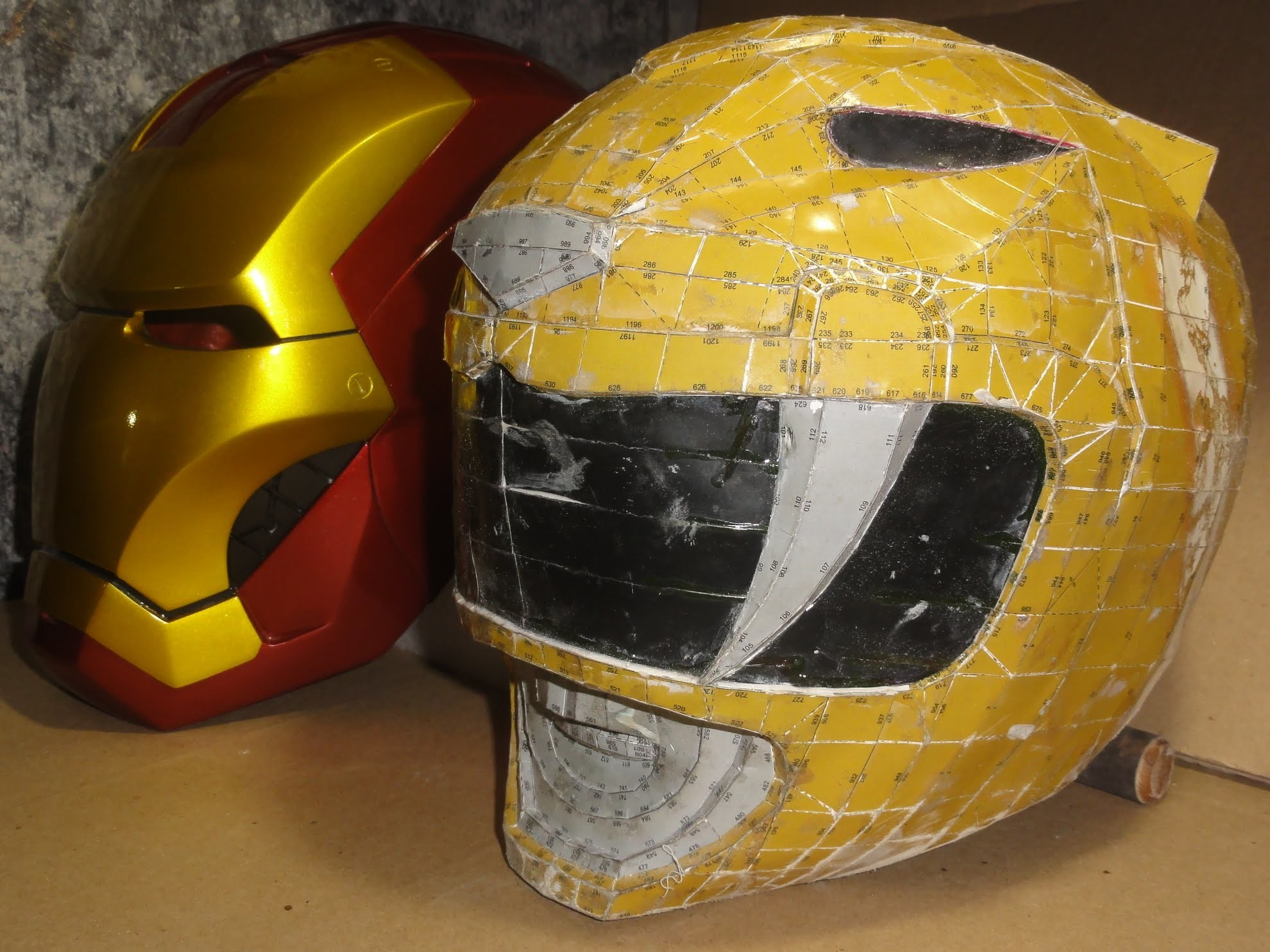 How do you make a POWER RANGER helmet - DIY - part 11