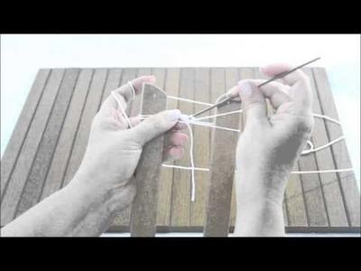 Como fazer 2 pontos baixos no centro da tira de grampo