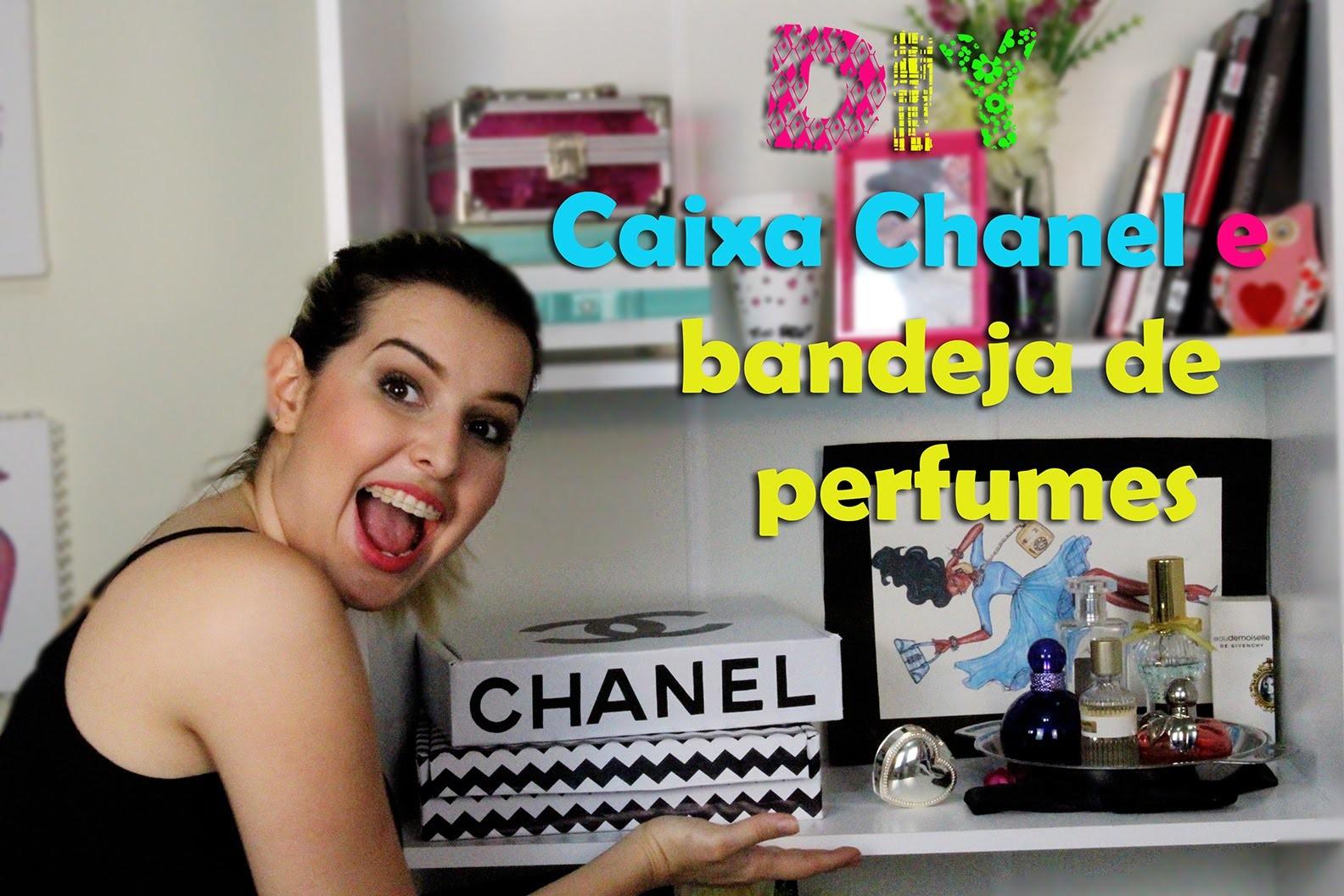 Diy - Caixa Chanel + Bandeja de Perfumes - Super fácil de fazer. Thabatta Campos