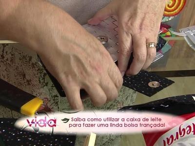 Saiba como utilizar a caixa de leite para fazer uma linda bolsa trançada!
