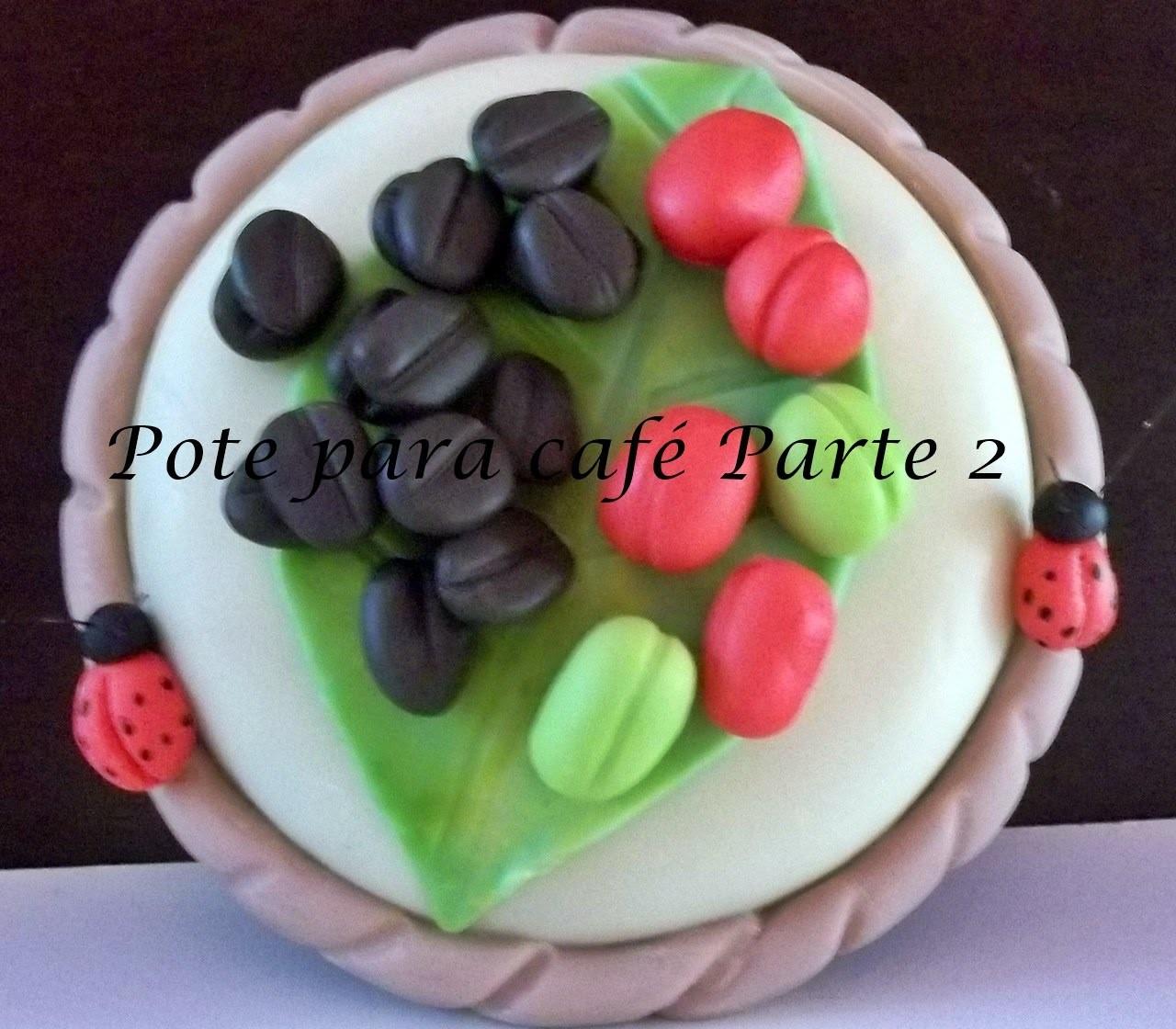 Tampa de Pote para café decorado com biscuit parte 2