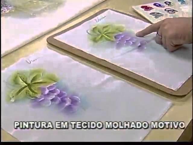 ARTE BRASIL - LUIS MOREIRA - PINTURA EM TECIDO MOLHADO [UVAS] (03.10.2011)