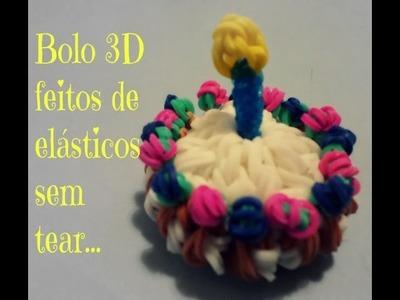 BolO 3D de elásticos sem tear. .