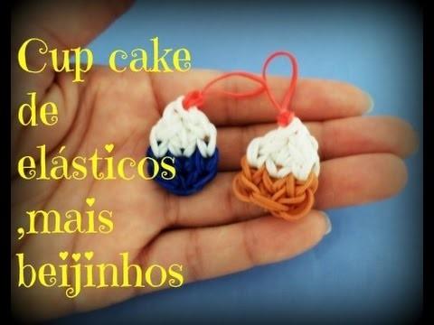 Mini cup cake de elásticos ,mais beijinhos