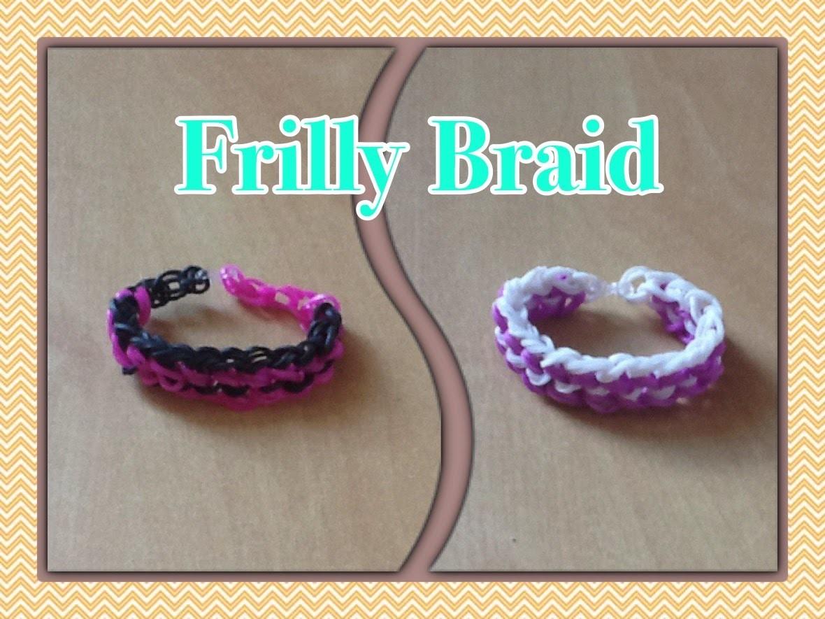 Rainbow Loom - Pulseira Frilly Braid | Criativa