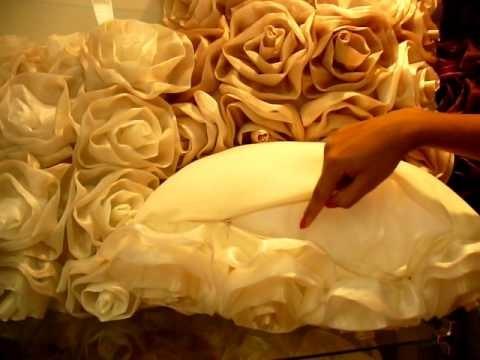 Almofada rosas vermelha