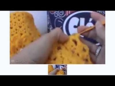 Crochê Ao Vivo - Gorro Dourado - Leitura de Gráficos - Parte 02.03