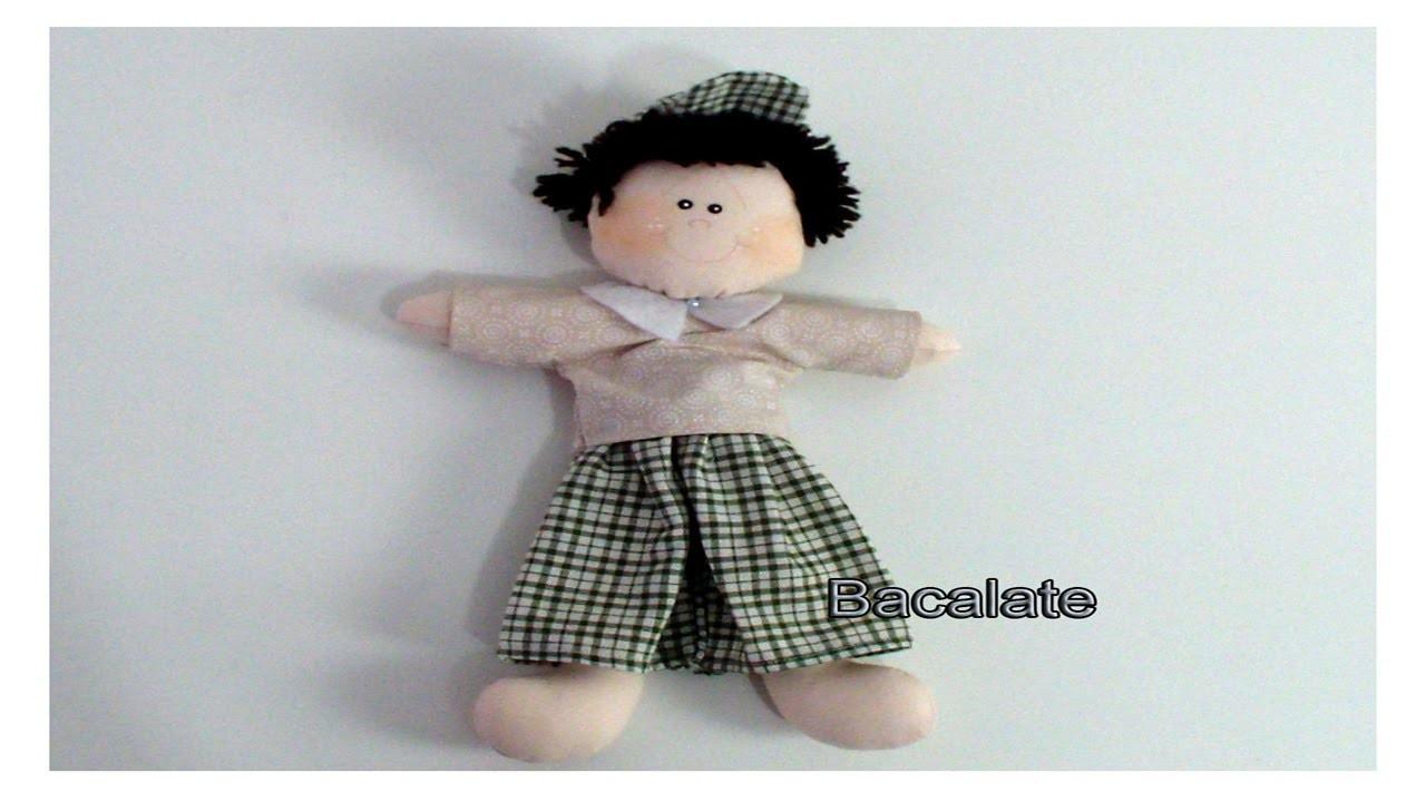 Artesanato Boneco Chiquinho p. Placa de Maternidade -DIY, Manualidades