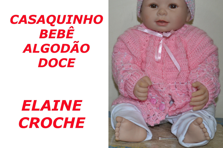CASAQUINHO BEBÊ ALGODÃO DOCE EM CROCHÊ