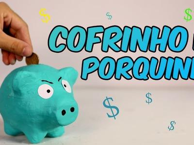 Cofre de porquinho caseiro (artesanato + brinquedo)