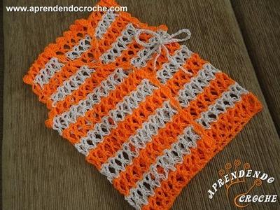 Colete de Croche para Bebê Nemo - 2º Parte - Aprendendo Crochê