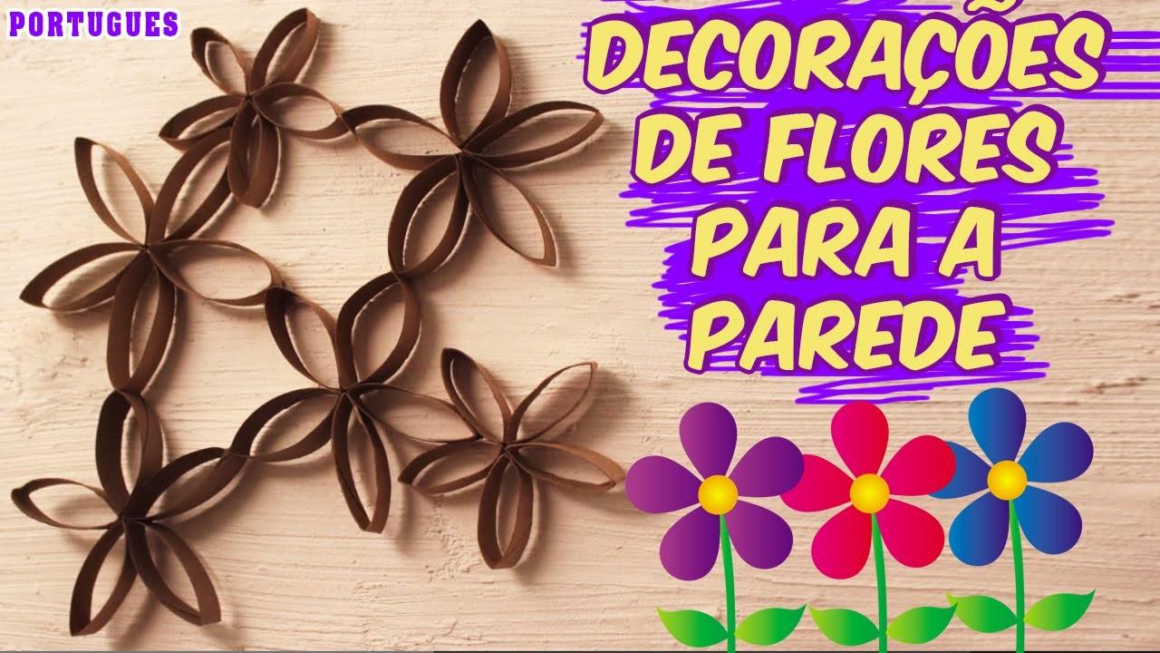 Como fazer Decorações de Flores para a Parede Fácil | Flower Wall art | Portuguese Arts & Crafts
