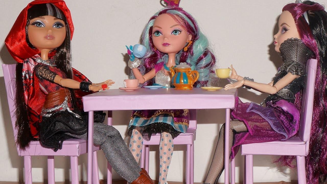 Como fazer mesa para boneca Monster High, Barbie, EAH, etc