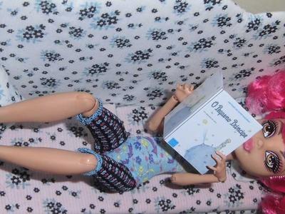 Como fazer revista & livro para boneca Monster High, Barbie, Pullip e etc