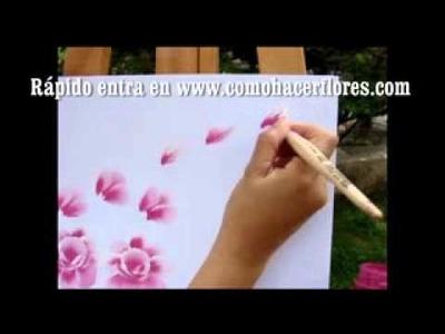 ! COMO PINTAR FLORES. Aprender a pintar é em minutos, para a vida !!.