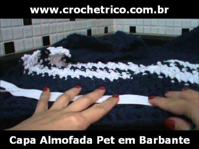 Crochet - Capa Almofada Pet em Barbante - Parte 02.05