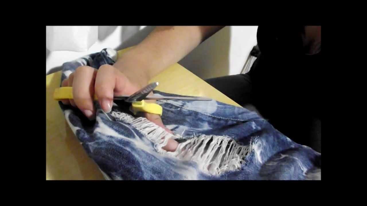 DIY: Como rasgar sua calça jeans - Blog da Brub