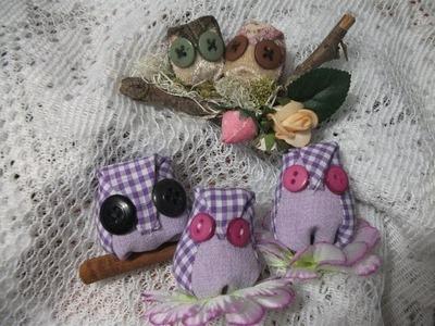 DIY: Passo-a-passo corujinhas.Owl tutorial