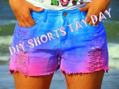 Diy shorts tay day