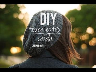 DIY touca estilo caída (faça você mesmo)