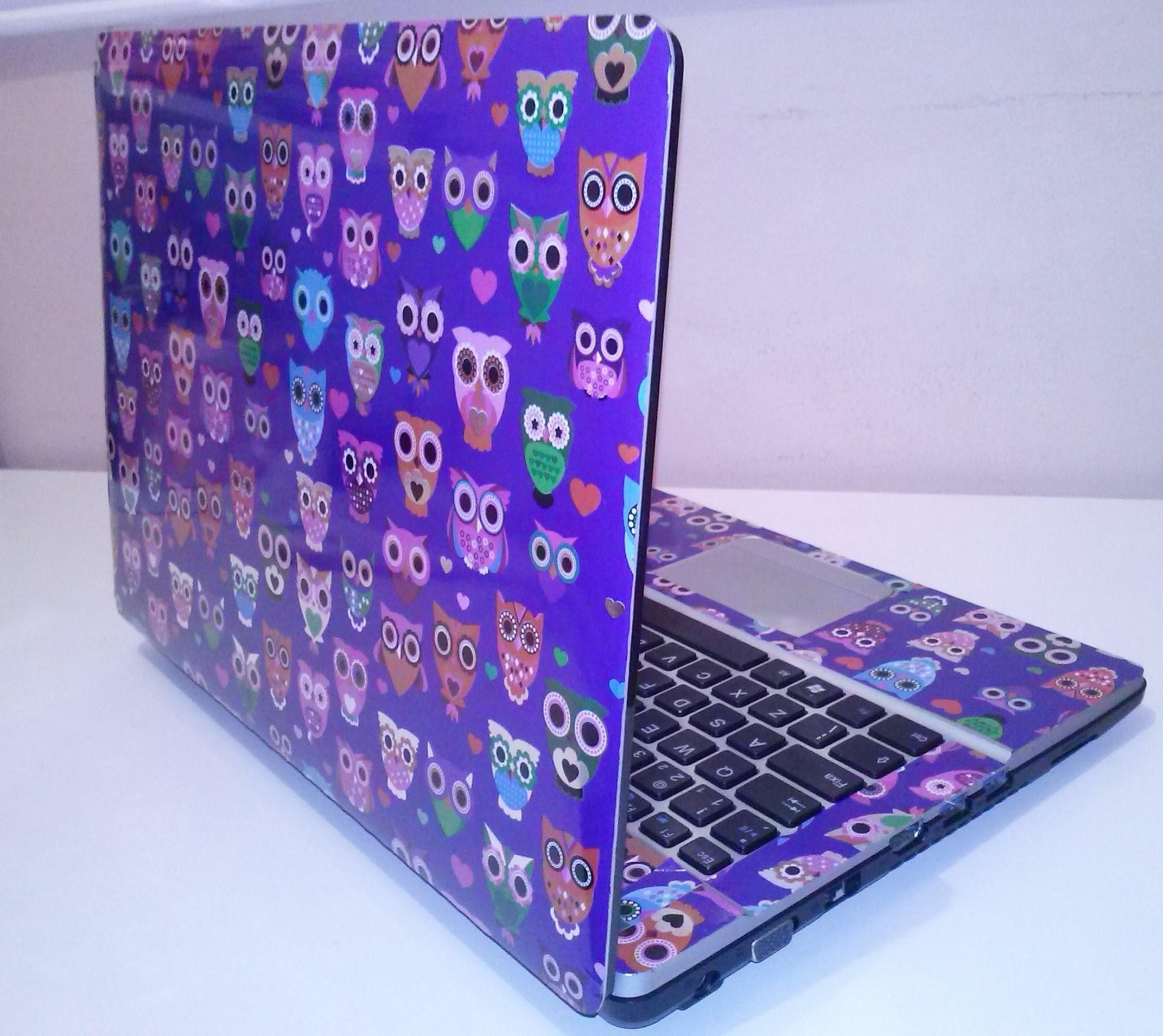 Faça você mesma - Encapando notebook com papel contact.