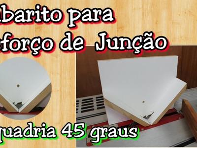 Gabarito Serra Circular de bancada - reforço para junção de esquadrias