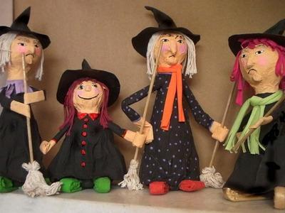 Halloween - Dia das Bruxas com sucata 1