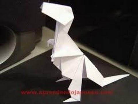 Malucos por origami dinossauro