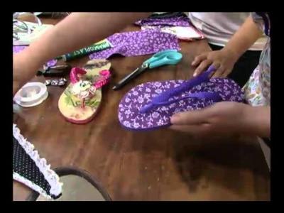 Mulher.com 12.04.2011 - Chinelo Gladiador de tecido