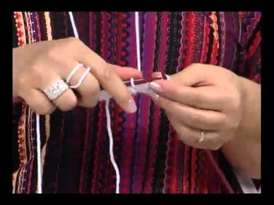 Mulher.com 18.08.2011 - Sapatinho de lã adulto